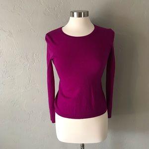 Charter Club Merino Wool Magenta Sweater